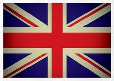 Gealterte britische Markierungsfahne Stockbilder