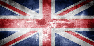 Gealterte BRITISCHE Markierungsfahne Lizenzfreies Stockbild