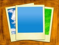 Gealterte gelbe Polaroide Stockbilder