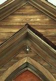 Gealterte hölzerne Kirche verlassen in Bodie, Kalifornien stockbilder