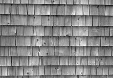Gealterte Haus-Schindeln Stockfotografie