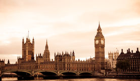 Gealterte London-Ansicht Lizenzfreie Stockbilder