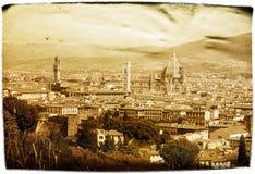 Gealterte Postkarte Florenz Stockbilder