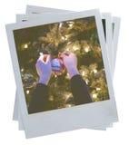 Gealterte Retro- Fotorahmen lizenzfreies stockbild