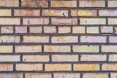 Gealterte Schmutzbacksteinmauer Lizenzfreies Stockfoto
