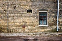 Gealterte Straßenwand Stockbild