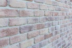 Gealterter alter roter weißer konkreter horizontaler Hintergrund Gray Brick Wall Texture Destroyeds Schäbige städtische unordentl Lizenzfreies Stockbild