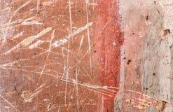 Gealterter alter roter weißer konkreter horizontaler Hintergrund Gray Brick Wall Texture Destroyeds Schäbiges städtisches unorden Stockfotos