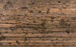Gealterter Braun nonpainted hölzerner Plankenoberflächenabschluß herauf Beschaffenheitshintergrund Lizenzfreie Stockfotos