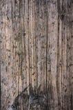Gealterter graues Braun nonpainted hölzerner Plankenoberflächenabschluß herauf Beschaffenheitshintergrund Stockfotos