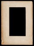 Gealterter Papierfotorahmen lokalisiert auf Schwarzem Lizenzfreies Stockbild