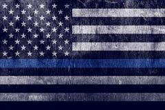 Gealterter strukturierter Polizei-Stützflaggen-Hintergrund stock abbildung
