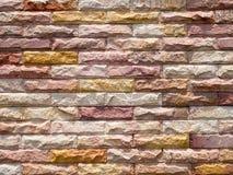 Gealterter weißer Backsteinmauerhintergrund der Farbe Stockfoto
