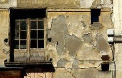 Gealtertes Fenster Stockfoto