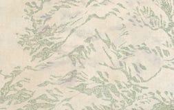 Gealtertes japanisches Papier mit einem Blumendruck Stockbilder