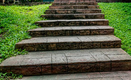 Gealtertes konkretes Treppenhaus Stockbilder