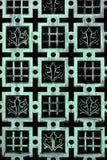 Gealtertes Kupfer - French Fleur de Lis Pattern Lizenzfreies Stockbild