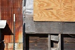 Gealtertes Patchwork von Mischgebäude-Elementen Stockfotos
