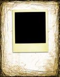 Gealtertes Polaroid auf Grunge Hintergrund Stockfoto