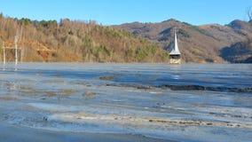 Geamana的罗马尼亚Cyanide湖 图库摄影