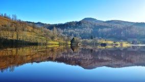 Geamana的罗马尼亚Cyanide湖 免版税库存图片