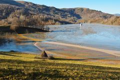 Geamana的罗马尼亚Cyanide湖 库存照片