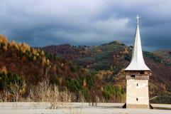 geamana的被淹没的教会 免版税库存图片