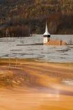 geamana的被淹没的教会 图库摄影
