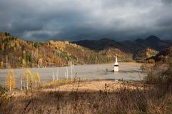 geamana的被淹没的教会 免版税图库摄影