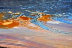 Загрязнение воды медного рудника в Geamana, Румынии Стоковая Фотография