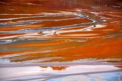 Загрязнение воды медного рудника в Geamana, Румынии Стоковое Фото