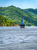 Geamana Church flooded in Rosia Montana ecological disaster Stock Image
