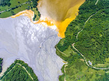 Geamana Lake nature pollution with cyanide near Rosia Montana an Royalty Free Stock Photography