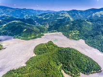 Geamana Lake nature pollution with cyanide near Rosia Montana an Stock Photography
