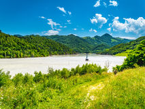 Geamana Lake near Rosia Montana Royalty Free Stock Photo