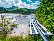 Geamana Lake near Rosia Montana mining extraction sites Royalty Free Stock Image