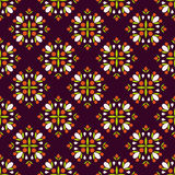 Geametric seamless pattern. Geometric seamless Pattern  with cute simple  colorful elements . Floral design. Perfect for wallpapers, textile, wrapping papers Royalty Free Stock Photos