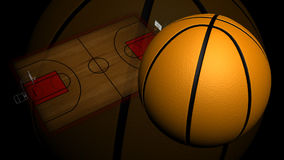 Geanimeerd Basketbalhof royalty-vrije illustratie