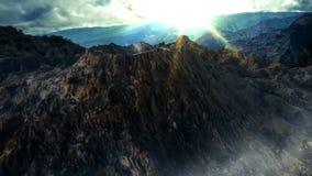 Geanimeerd berglandschap stock video