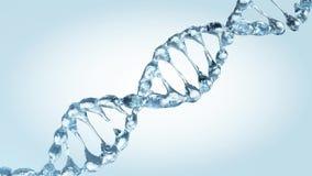 Geanimeerd DNA-model van dalingen van water 3d vector illustratie