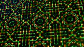 Geanimeerd licht die groene en gele punten en sterrenvormen shinning stock illustratie