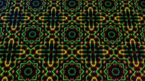 Geanimeerd licht die groene en gele punten en sterrenvormen shinning vector illustratie