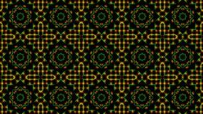 Geanimeerd licht die groene en oranje punten en sterrenvormen shinning royalty-vrije illustratie