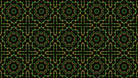 Geanimeerd licht die groene en oranje punten en sterrenvormen shinning vector illustratie