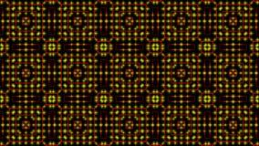Geanimeerd licht die rode en gele punten en sterrenvormen shinning stock illustratie