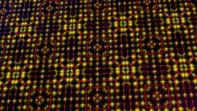 Geanimeerd licht die rode en gele punten en sterrenvormen shinning vector illustratie