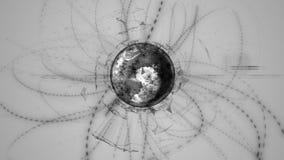 Geanimeerd mondiaal digitaal sociaal net en royalty-vrije illustratie