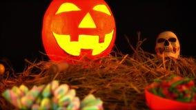 Geanimeerd van Halloween-thema met steun stock footage