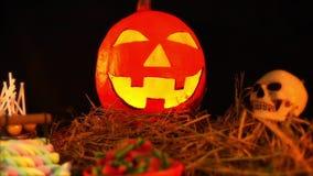 Geanimeerd van Halloween-thema met steun stock video