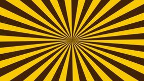 Geanimeerde abstracte gele en zwarte gekleurde achtergrond stock footage